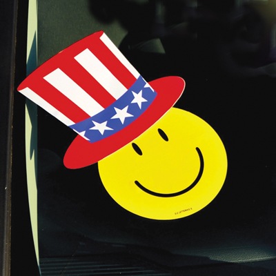 Happy Face With Uncle Sam Hat ez-446-hat