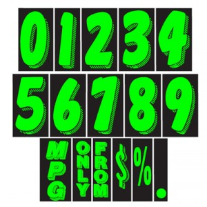 ez lettering adhesive number decals 0-9