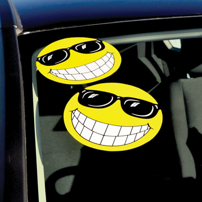 Smiley Face With Sunglasses Window Sticker