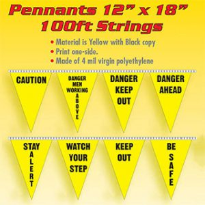 100 foot Safety Pennants