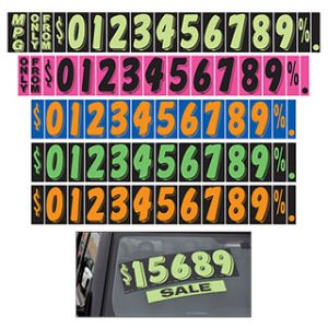9 1/2 inch Adhesive Numbers