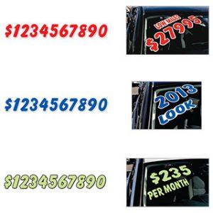 Colored Die-cut Numbers