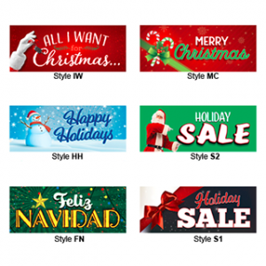 Holiday Bucko Banners