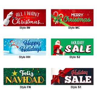 Holiday Bucko Banners