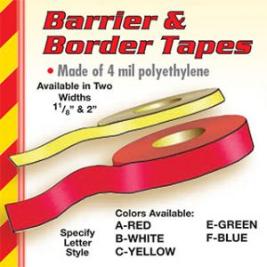 Barrier &amp Border Tape