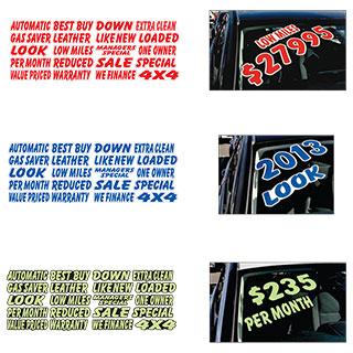 Colored Die-cut Slogans