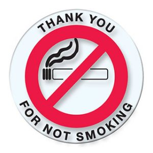 Versa Tag No Smoking Stickers