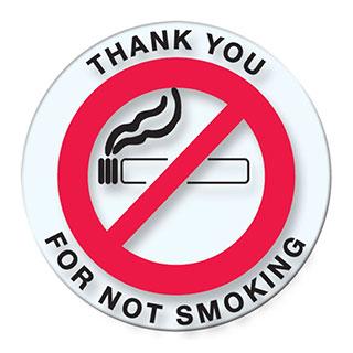 Versa Tag No Smoking Stickers