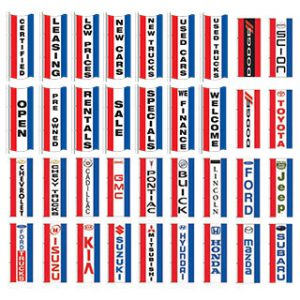 Vertical Slogan Drape Flags - Single