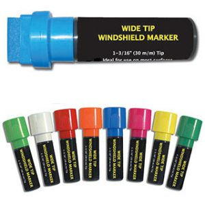 Wide-tipped Windshield Markers